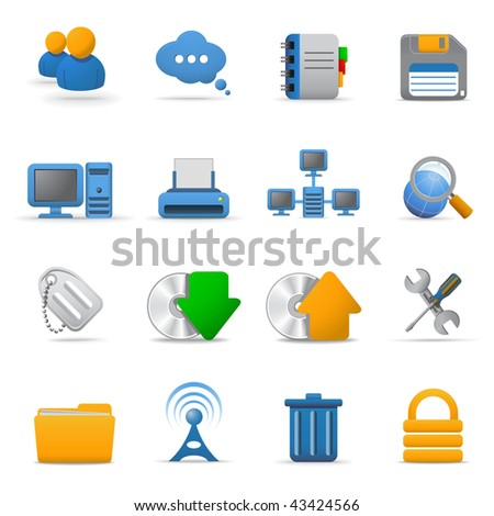Web icons set | Joy series. Part 2 - stock vector