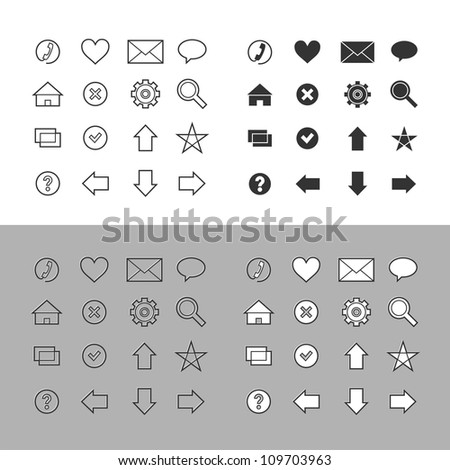 Web icons set (vector version) - stock vector