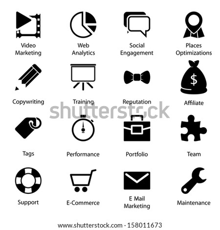 Web Icons Vol 2 - stock vector