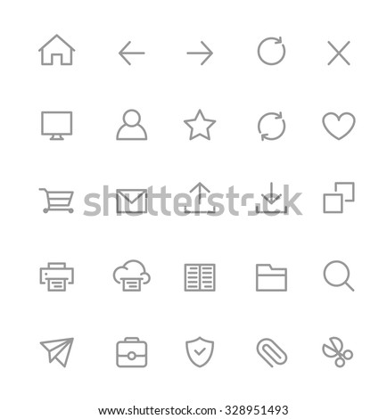 Web Interface Icons - stock vector