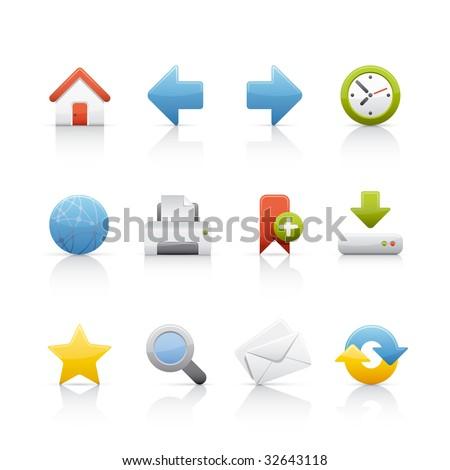 Web & Internet Icon Set for multiple application in Adobe Illustrator EPS 8. - stock vector