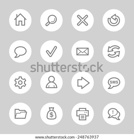 Web & internet icons set - stock vector