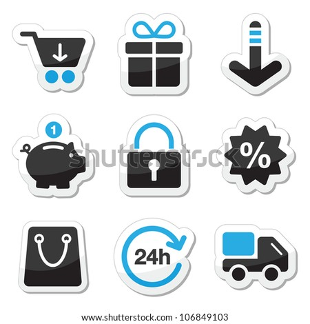 Web / internet icons set - shopping - stock vector