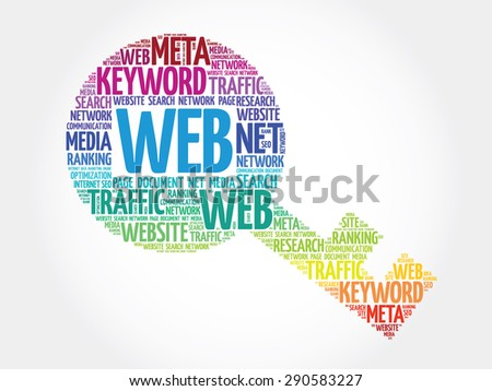 WEB Key word cloud, business concept - stock vector