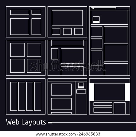 Web Layouts | EPS10 Vector - stock vector
