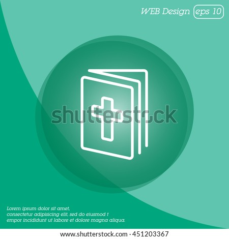 Web line icon. Bible, Holy Writ - stock vector