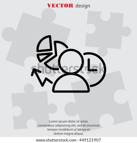 Web line icon. Business icon; Manager , Analyst - stock vector