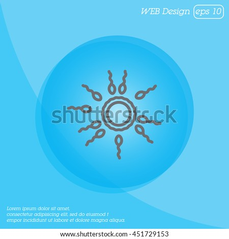 Web line icon. Egg and sperm. - stock vector