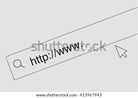 Web link background. Search window in browser at the internet - stock vector