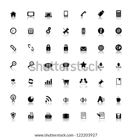 Web, Mobile And Business icons isolated on white background. Vector illustration. Set of universal icons useful for website. - stock vector