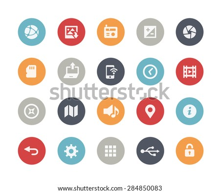 Web & Mobile Icons - 5 // Classics Series - stock vector