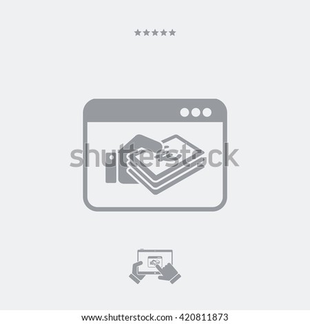 Web money transfer - Euro - stock vector
