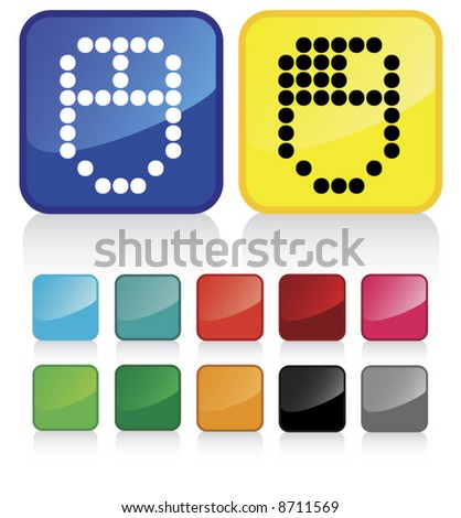 web mouse buttons - and suggested colors with glossy aspect - check my gallery for other similar vectors - stock vector