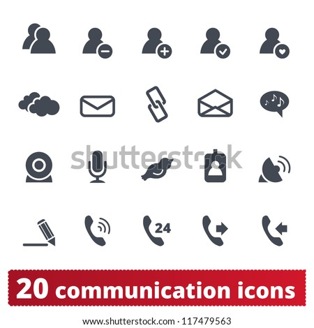Web, phone, communication icons: internet vector set - stock vector