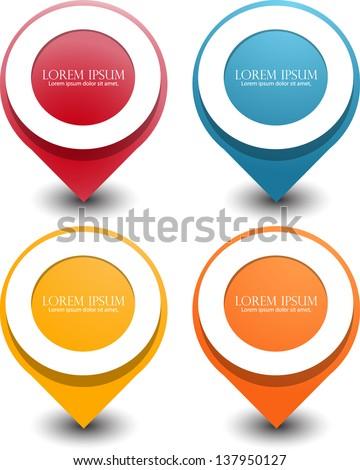 web pointer badge - stock vector