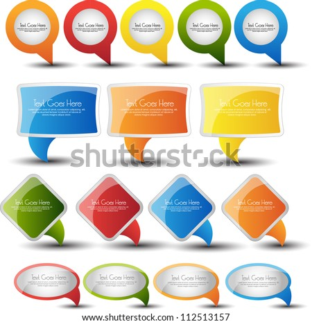 web pointers and speech bubble set - stock vector