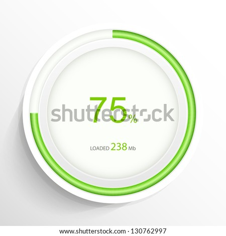 Web preloader. Download bar. Vector illustration. - stock vector
