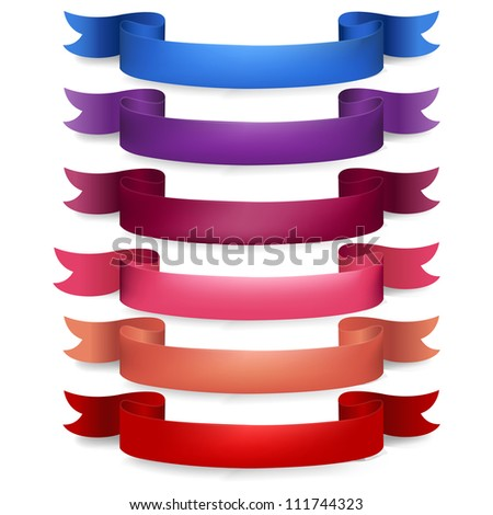 Web Ribbons Big Set, Isolated On White Background, Vector Illustration - stock vector