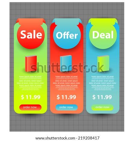 web sale banner/badge - stock vector