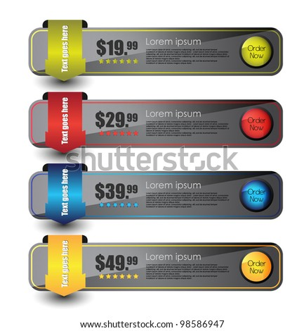 web sale banner set - stock vector