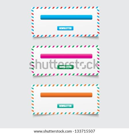 Web site design - stock vector