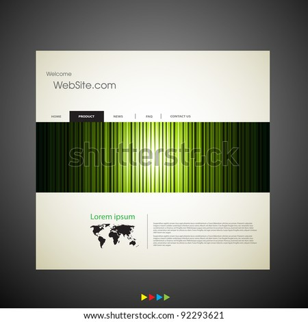 Web site design art template - stock vector