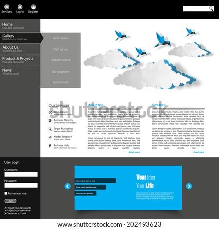 Web site design template  - stock vector