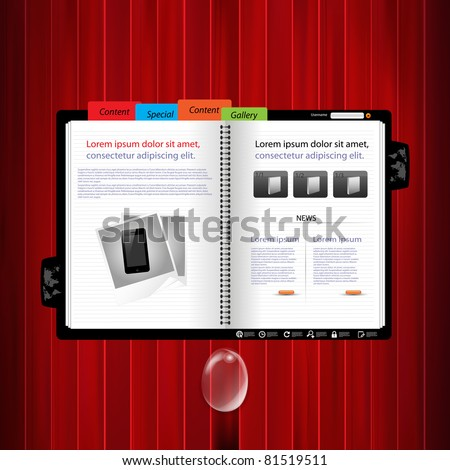 Web site design template vector - stock vector
