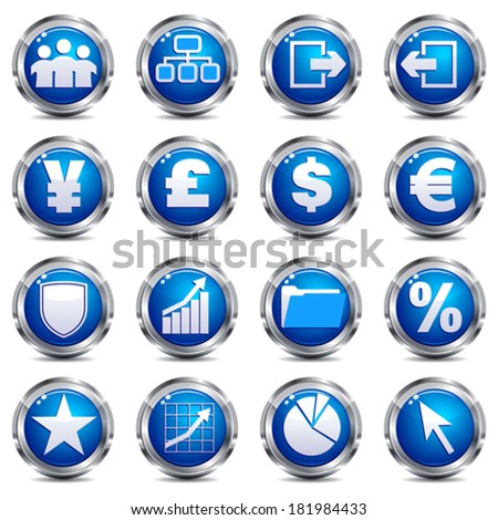Web Site & Internet Icons - SET THREE - stock vector