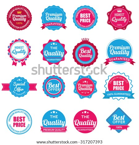 Web stickers, banners and labels. Sale arrow tag icons. Discount special offer symbols. 50%, 60%, 70% and 80% percent discount signs. Price tags set. Vector illustration - stock vector
