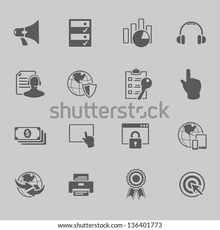 web technology icon set vector illustration - stock vector