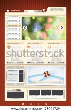 web template design - stock vector