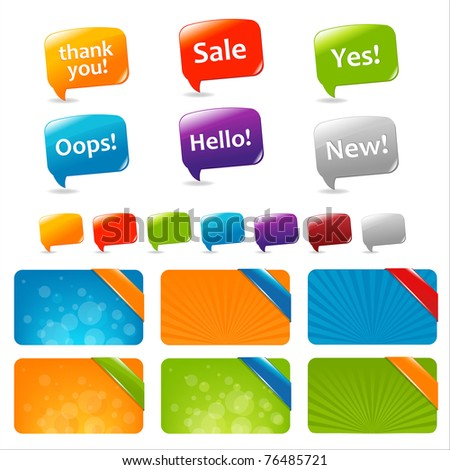 Web Text Boxes And Speech Bubbles, Isolated On White Background, Vector Illustration - stock vector