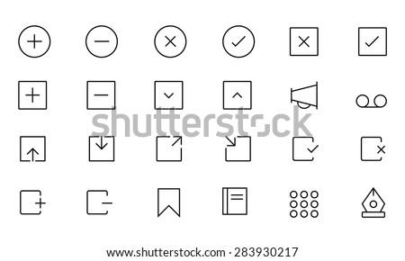Web UI Vector Icons 4 - stock vector