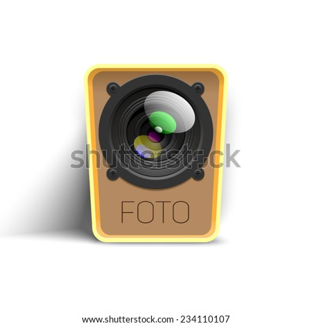 webcam icon - stock vector
