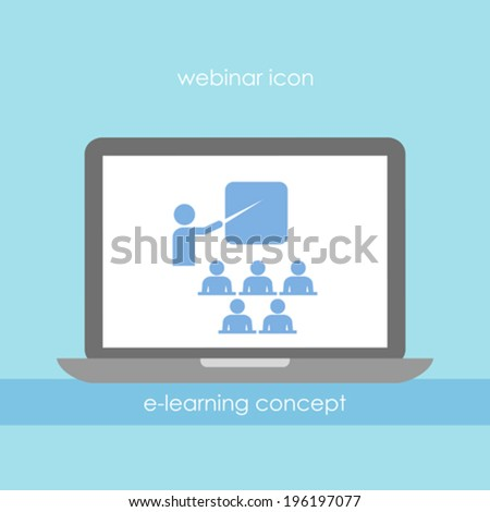 Webinar vector icon - stock vector