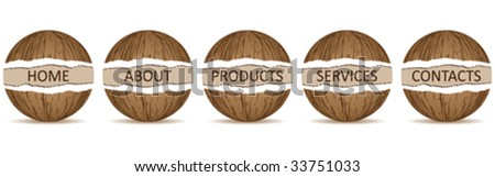 website banner template vector illustration - stock vector