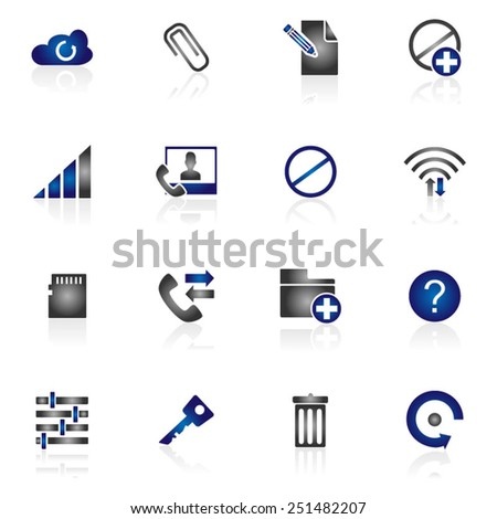 Website & Communication Icon - stock vector