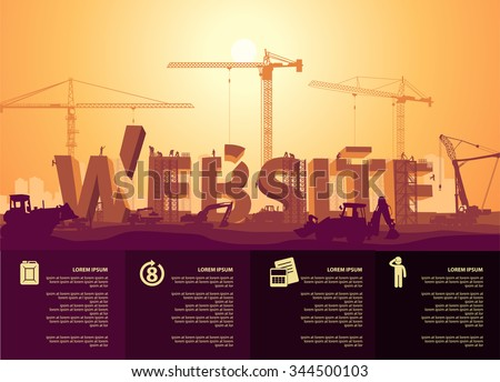 website construction - stock vector