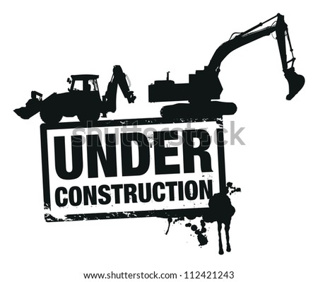 website construction background - stock vector