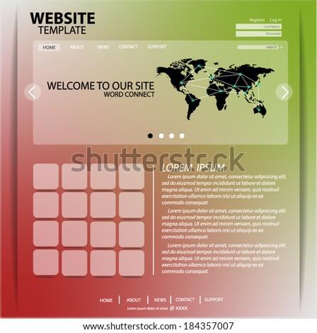 Website Design Template Connect Vector Eps10 - stock vector