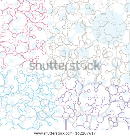 Website Design template Molecule And Communication Background - Vector Illustration, Graphic Design Useful For Your Design  - stock vector