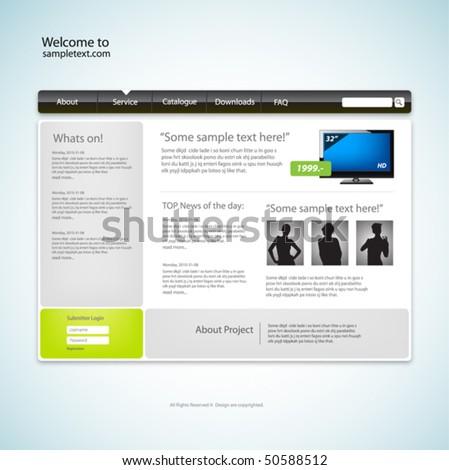 Website design template. Vector. - stock vector