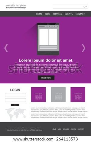 Website design vector template - stock vector