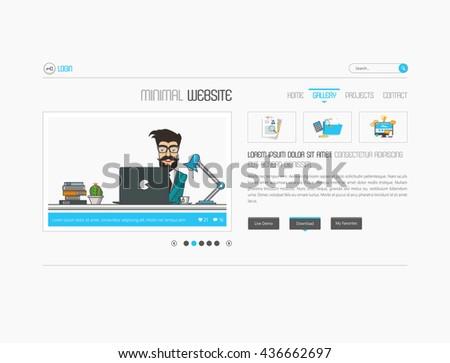 Website Elemenst Slideshow interface for your pictures. Vector design, eps 10 - stock vector