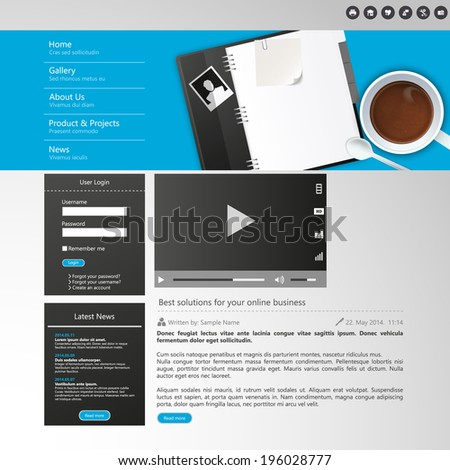 Website Elements/Template Design for Your Business Site  - stock vector