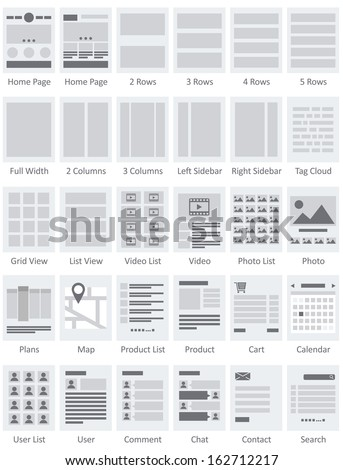 Website Flowcharts and Site Maps AI - stock vector
