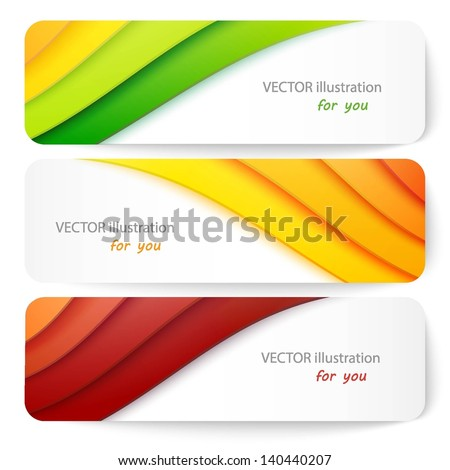 Website header or banner set. Vector illustration for your business presentations. EPS10. - stock vector