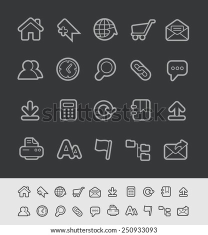 Website Icons // Black Line Series -- EPS 10+  Contain Transparencies - stock vector