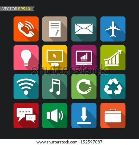 Website icons collection vector set 3 - stock vector